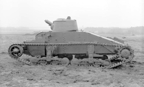 Mechanization Experimental Establishment. By November 1939, the limitations of the solitaire machine gun armament (either one .303-inch Vickers machine gun, or one .50-inch Vickers machine gun) of the A11, and the need for better armoured protection of the crew, and for greater firepower, lead, to the design of the Infantry Tank Mark II, Matilda II (A12), since to incorporate the needed improvements, was not feasible with the basic A11 design. Source: IWM (KID 158).