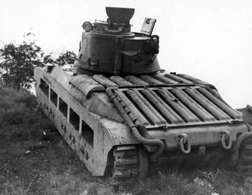 As noted in the text, those Matilda tanks that were powered by twin Leyland diesel engines (the Mark IIA* Matilda III onwards), could be identified by an exhaust pipe running down both sides of the engine deck, as seen in this photo. Source: authors' collection.