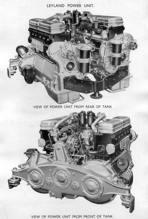 View of the twin Leyland 6-cylinder diesel engines that were used in the Mark IIA* Matilda III, and in the Mark IIA* Matilda III Close Support, as used by the Canadian Army Overseas. Source: authors' collection.
