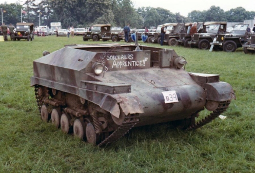 A survivor at a military vehicle gathering at Knebworth, United Kingdom, in the mid-1980s. courtesy Larry Hayward