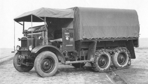 This 1919 Vulcan shows the markings applied to British Army vehicles. The photo is dated 1931. MilArt photo archives