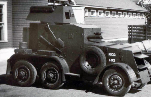 1935 armoured car showing the early mark. MilArt photo archives