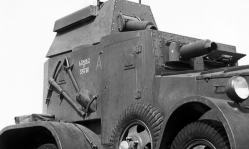 "The second 1935 armoured car. Note the ""A"" classification. MilArt photo archives"