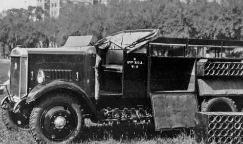 Earlier markings for truck number 2 of B Battery, 2nd Regiment Royal Canadian Artillery. MilArt photo archives