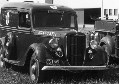 An ambulance with RCASC markings. MilArt photo archives