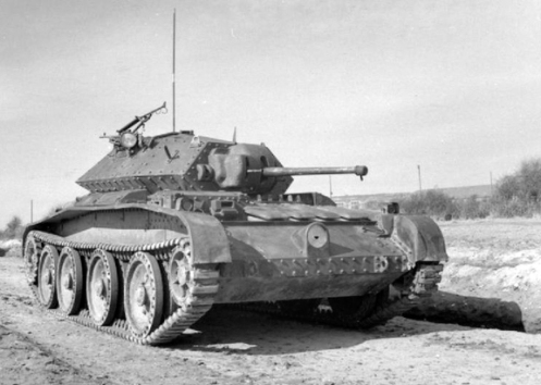An unidentified standard production Cruiser Tank Mark V Covenanter, photographed on 11 March 1942, somewhere in the United Kingdom. Source: IWM (H 17807)