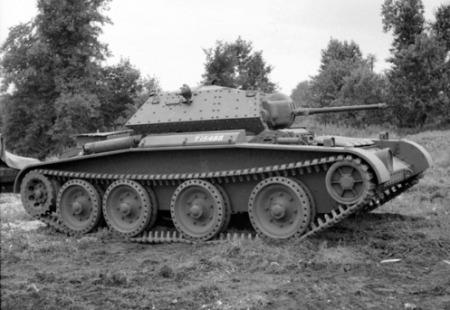 An example of a standard production Covenanter I, bearing the British War Department number T15488, and armed with the 2-pounder Ordnance Quick Firing gun, and co-axial 7.92-millimetre Besa machine gun. This particular tank, was built under Contract No. T.7218, by Leyland Motors Ltd., at their Kingston-upon-Thames works (London, England). Source: IWM (H 12377).