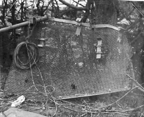 The Germans also used mesh screens, the so-called Thoma Schürtzen, but their main intent was to protect the tank's undercarriage from anti-tank rifle fire.