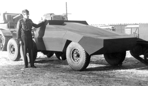 The first vehicle, shown here with a cargo holder attached to the front bumper. MilArt photo archives