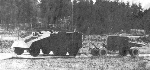 The 6x6 was also used as a trial tower for the trails of the 25-pdr MARS gun. See article. MilArt photo archives