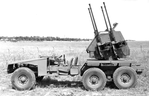The third, and last,  vehicle built in the series. This one was built as a SP mount to transport the Inglis 20 mm Quad AA gun. Canadian Army policy on the types of AA guns deemed acceptable for overseas use saw this gun. MilArt photo archives become redundant and the vehicle found itself without a cause. MilArt photo archives