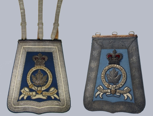 Variants to the Governor General's Body Guards. Note the different lace styles. The Maple Leaf lace on the example on the right suggests 1870-1890. Courtesy Scott Duncan