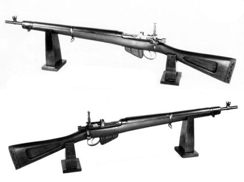 SAL's prototype for a lightweight version of the No.4 rifle. It lost out in competition to the British No. 5 Jungle Carbine. MilArt photo archives