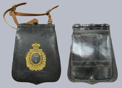 Obverse and reverse views of a NWMP sabretache, ca.1895. Courtesy Marway Militaria