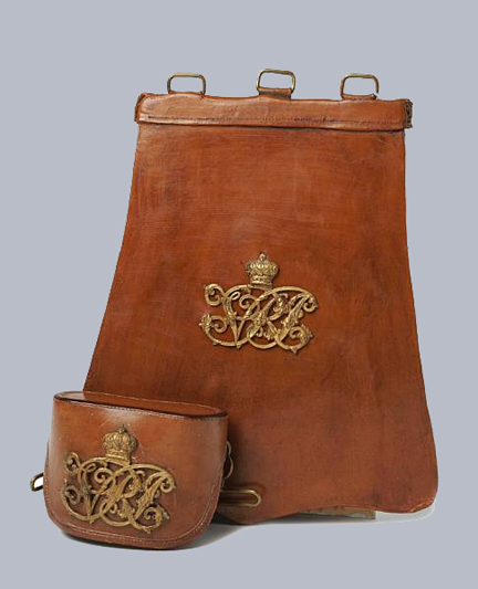 'Undress' version of the sabretache and cross-belt pouch to the Royal Canadian Dragoons, ca.1900. Courtesy Bonham's auction house