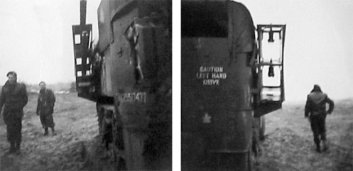 Photographs of 4 CAB's half-track mounted rocket launcher from  First Canadian Army's Weapons Technical Staff Officer Major A.G. Sangster.s report.