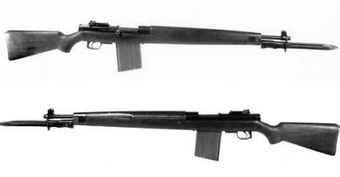 First model SAL semi-automatic rifle. MilArt photo archives
