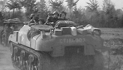 CT160003, one of the initial 100 Ram, Mark II tanks, that were earmarked for conversion to that of a 'Ram' armoured personnel carrier, on 10 August, and was shown as converted to a 'Ram' armoured personnel carrier, by 26 September 1944, seen here in service with the 1st Canadian Armoured Personnel Carrier Squadron, in support of operations by the British 53rd (Welsh) Infantry Division in the area of 's-Hertogenbosch, Holland, on 22 October 1944. Authors' collection