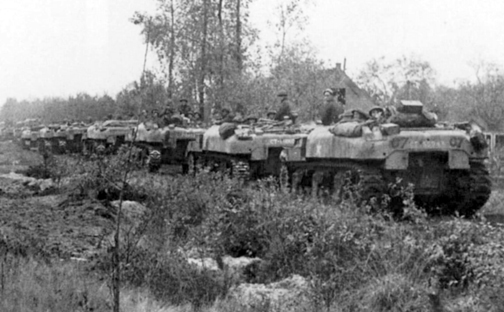 4b6eca89367 A rare photo of  Ram  Kangaroo armoured personnel carriers of the 1st  Canadian Armoured