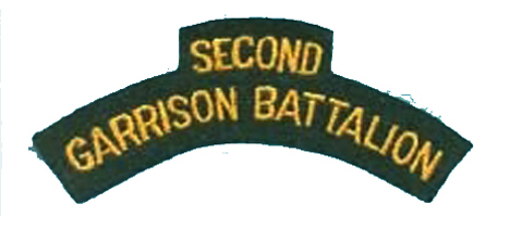 At least six samples were made but it is unknown if a production contract was let for the Second Garrison Battalion titles.