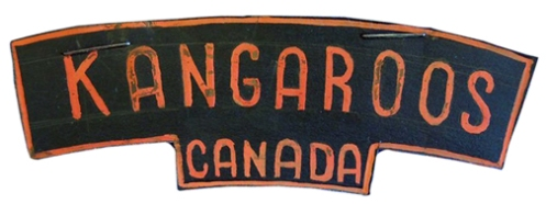 Original artwork of the proposed unit shoulder title. It took the orange colour from the Dutch House of Oranje and the black from the Armoured Corps beret.