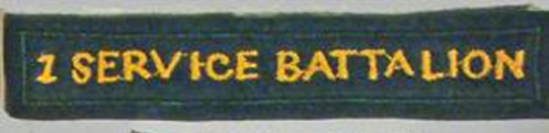 Proposed (early to mid 1970s) CF dress badge to be worn under the proposed CF LOGISTICS BRANCH shoulder flash. Author's collection