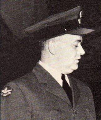 F/O E.A. Anderson, CO of 211 Ottawa Kiwanis Sqn wearing the 1947 Distinguishing badges at his squadrons' Annual Inspection.  The picture is from the cover of the Canadian Air Cadet September 1947 issue.
