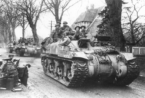 """'Ram' Kangaroo armoured personnel carriers of """"A"""" Squadron, 49th Armoured Personnel Carrier Regiment, Royal Armoured Corps. Source: Bovington Tank Museum (BTM 1115-B3)"""