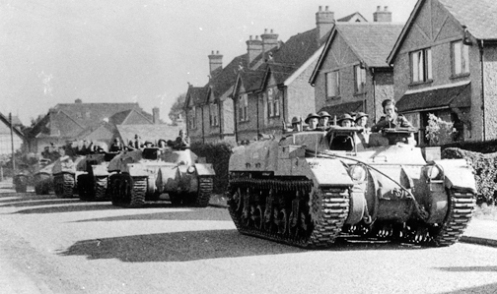 'Ram' Kangaroo armoured personnel carriers in postwar service with the British Army. Source: Bovington Tank Museum (BTM 2293-A1)