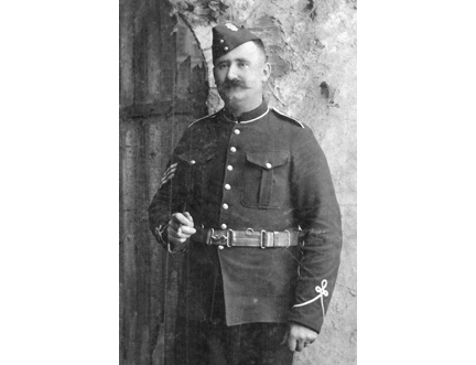Sergeant McPhee of The RCR, circa 1900. Photo courtesy MilArt photo archives.