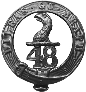 Original badge authorized for the 48th Battalion (Highlanders)