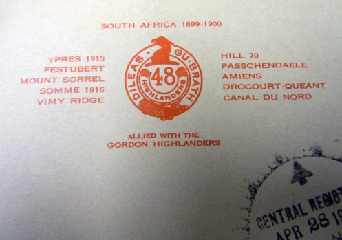The offending letterhead which, in 1938 still used the buckled belt.