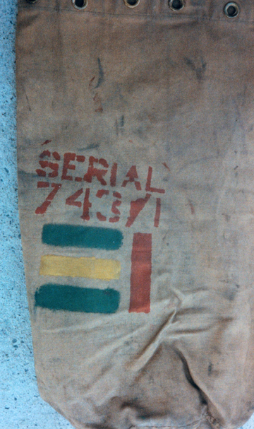 The number '743/1' identifies the kitbag owner as a member of Le Regiment de la Chaudiere. Source: Courtesy of Ed Storey