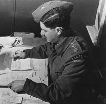 Capt. J.R. Wait, Adj. P.M.C.T. Det. R.C.A.P.C. United Kingdom, January 1942. Canadian Military Photo.