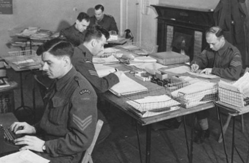 Accounts Department CMHQ January 1942. Canadian Military Photo.