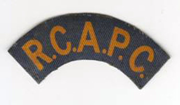 Printed R.C.A.P.C. title. Note the colour of the lettering. Author's collection.