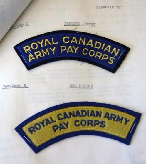 RCAPC full titles. Top, 1947 pattern title. Bottom, 1950 pattern title. RG 112 Vol.29710 Box 261 File 5250-0001/11.