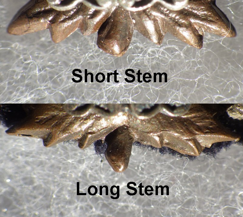 5) Short and Long Maple Leaf stem variants